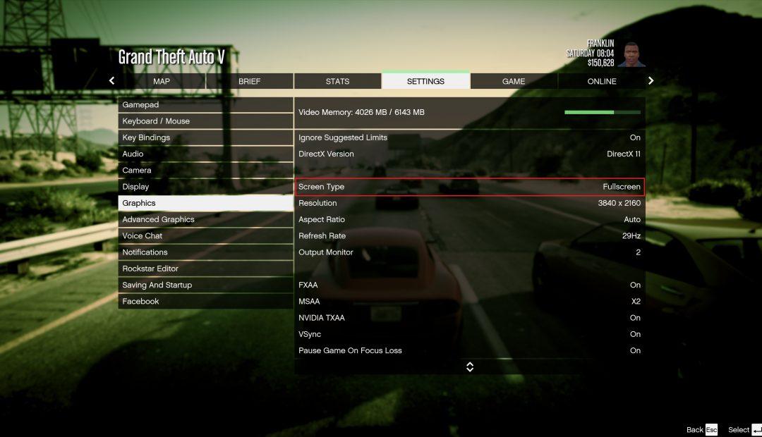 GTA 5 Tam Ekran Yapma